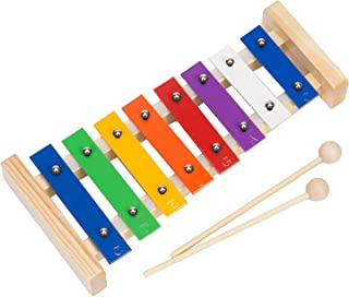 Upado Unlimited Glockenspiel Xylophone, Tuned Musical Instrument Includes 2 Wooden Mallets and 12 Page Introductory Popular 8 Note Songs Music Pattern Song Book