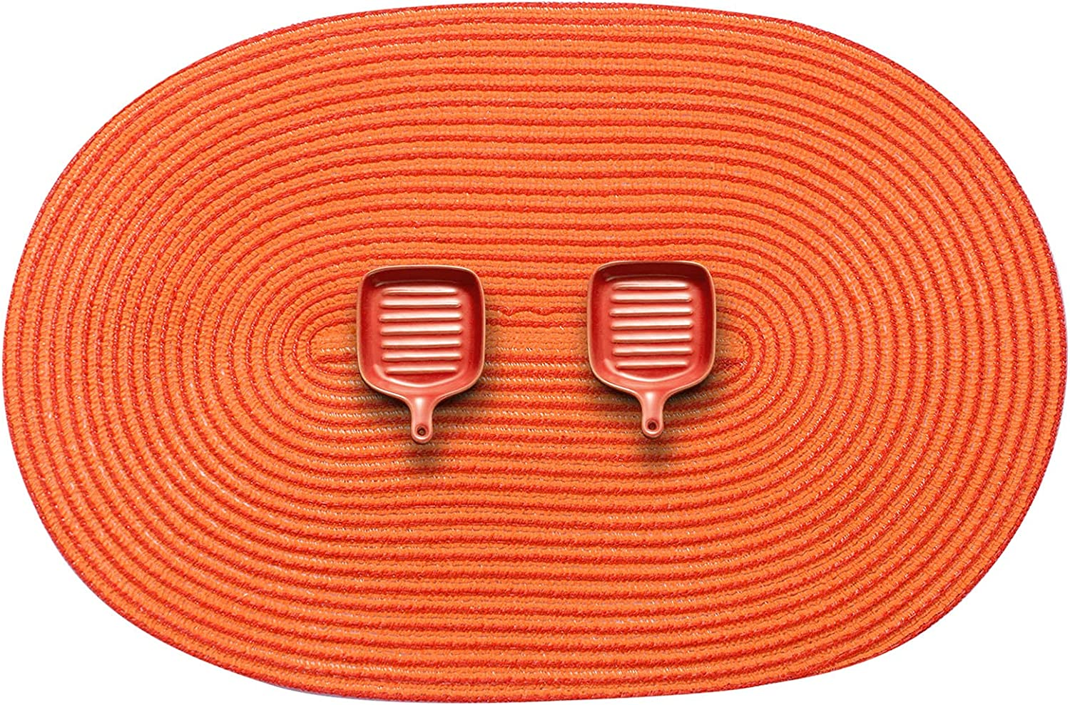 AHHFSMEI Oval Braided Placemats Safety and trust 12x18 Phoenix Mall for Table Inch D Mats