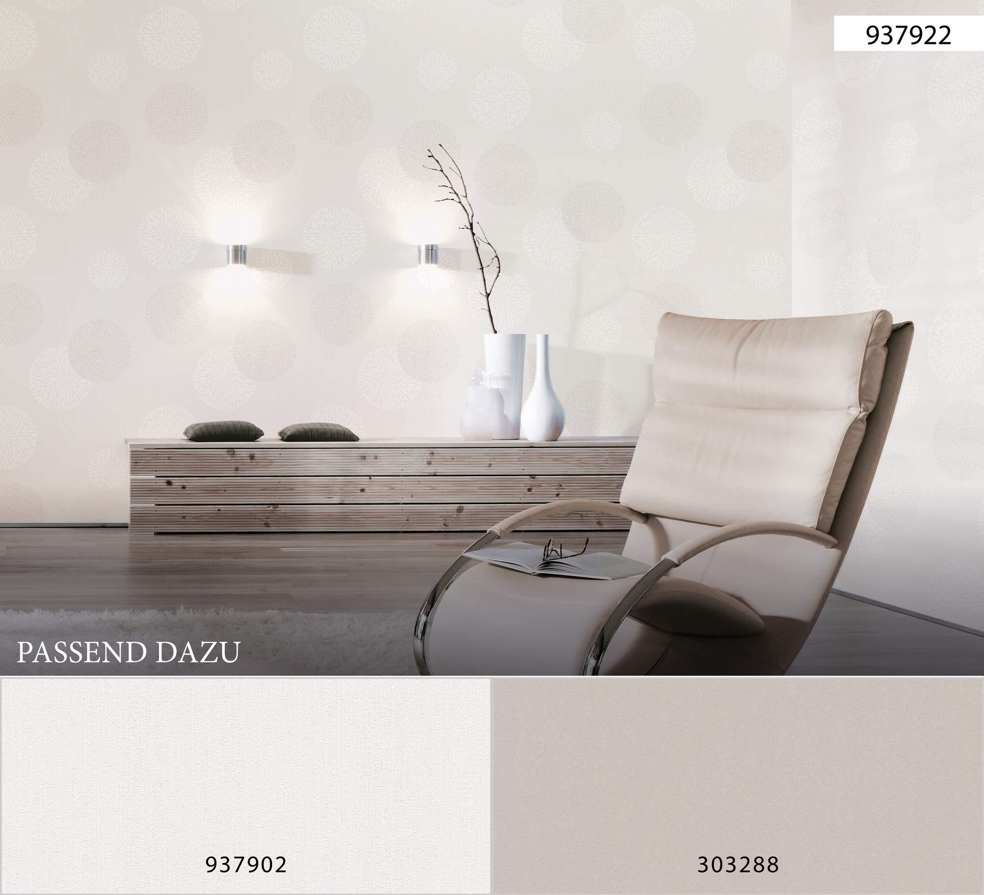 Papiers Peints Bricolage A S Creation Papier Peint Intisse Spot Creme Blanc 10 05 M X 0 53 M 937922