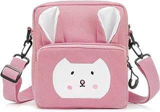 Wodasi Mała dziewczynka torba na ramię torba na ramię dla dziewcząt urocza mała torebka z regulowanym paskiem dziecięca to...
