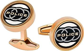Police Men'S Stainless Steel Cufflinks - P Pj 90090Csrg/03 - Rose Gold/Black