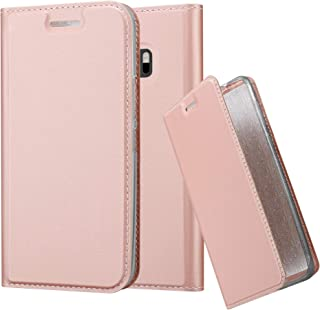 Cadorabo Book Case Works with HTC One M10 Wallet Etui Cover CLASSY ROSÉ GOLD DE-120219