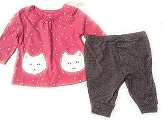 Carter's Baby Girl Polka Dot Cat Tee & Leggings Set 3 Months 3M
