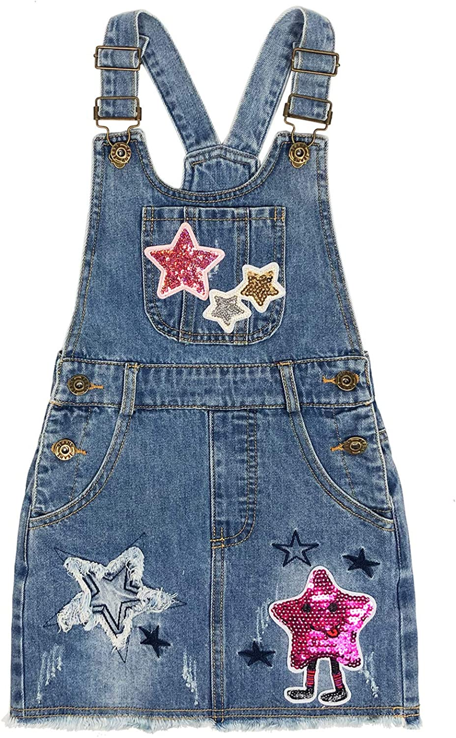 Peacolate 4-11T LittleBig Girls Jumper Casual Denim At the price of surprise Strap Dress Long-awaited
