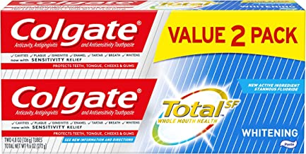 Colgate Total Whitening Toothpaste - 4.8 ounce (2 Pack)