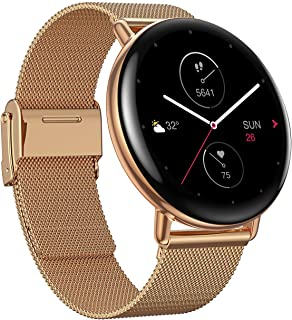 Zepp E Circle Smart Watch Health and Fitness Tacker with Heart Rate, SpO2 and REM Sleep Monitoring, Stainless Steel Body, ...