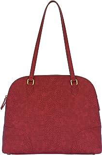SILVIO TOSSI Damen Lederhandtasche Schultertasche Weinrot Modell 11342-07