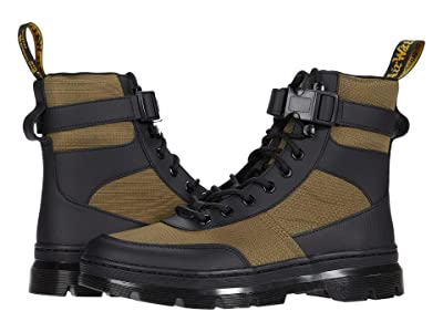 Dr. Martens Combs Tech (Black/DMS Olive) Shoes
