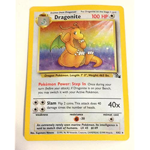 Fossil Set Holo Pokemon Card 4//62 FAST /& FREE P/&P! Rare EXCELLENT Dragonite