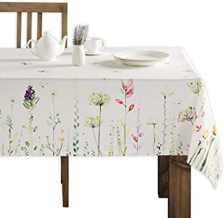 Maison d' Hermine Botanical Fresh 100% Cotton Tablecloth 60 Inch by 90 Inch.
