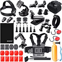 Zookki Camera Accessories Kit for Gopro Hero 7 6 5 4 3, Sports Accessories Kit for SJ4000/SJ5000/AKASO EK5000 EK7000/Xiaom...
