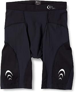 [シースリーフィット] スポーツタイツ インパクトエアーハーフタイツ コンプレッションタイツ メンズ スパッツ 段階着圧 軽量 通気性 UVカット