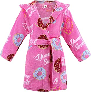 Image of Cute Yummy Sweets Donut Pink Bath Robe for Girls and Toddlers - See More Designs