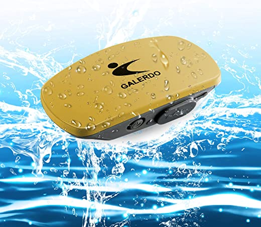 GALERDO BEKER Waterproof Music Player with Bone Conduction Audio Underwater Headphones, MP3 Player for Swimming, IPX8, 8 GB, 4 HRs, Open-Ear Design...