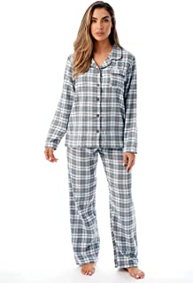 Long Sleeve Flannel Pajama Sets for Women