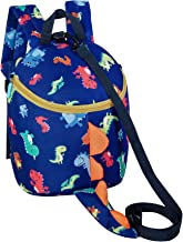 UATOP Toddler Backpack for Boys Girls Kids Dinosaur Book Bags with Safety Leash