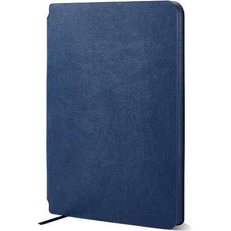 taccuino a righe professionale Taccuino a righe Diario tascabile Premium di Notts Journal I Agenda con copertina rigida I 100g//m2 FSC Blu navy privo di acidi Carta color crema
