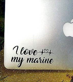 Decal, I Love My Marine Decal, USMC, Truck Sticker, Laptop Sticker, MacBook Sticker, iPad Decal, Car Window Decal, Kindle Fire Decal