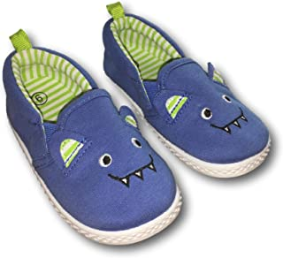 Canvas Pre-Walk Blue Boy Baby Monster Shoes Slip-on Sneakers