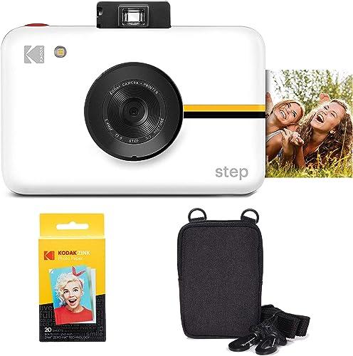 2021 Kodak new arrival Step Instant Camera with 10MP Image Sensor discount (White) Go Bundle online