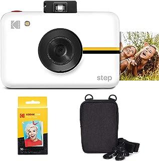 كاميرا كوداك ستيب الفورية مع مستشعر صور 10 ميجابكسل (أبيض) حزمة التنقل