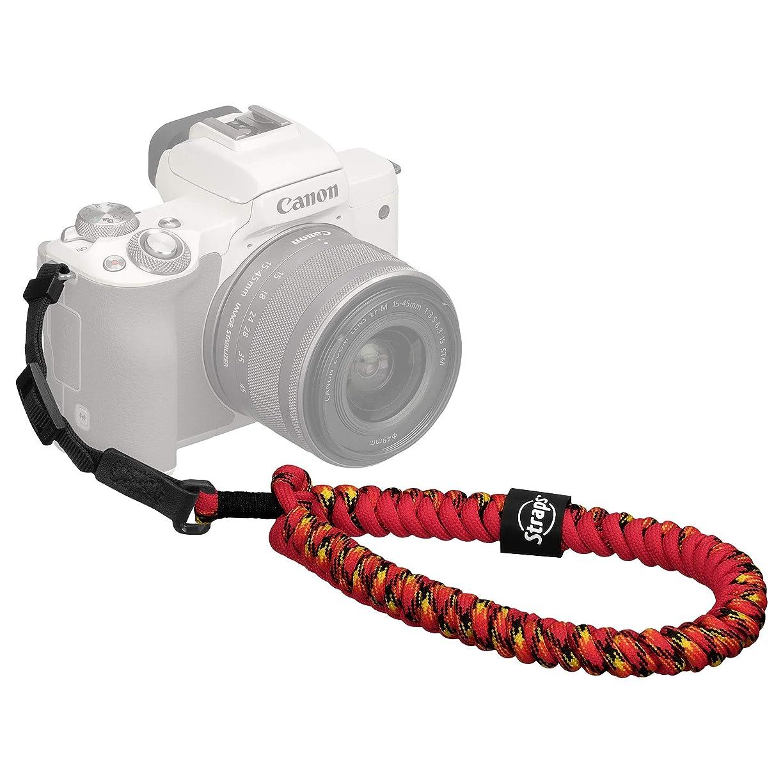 考案する遺伝的コールHAKUBA カメラストラップ STRAPS リストストラップ M8 小型一眼カメラ用 パラコード編み マイアミ KSTPS-M8-MIA