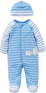 Little Me Boys' 2-Piece Footie & Cap Set