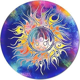 """Sun catcher"""" TRIVAL"""" No. 13. Ø 20 cm/simbolo ornamento/immagine della finestra appendiabiti/vetro acrilico infrangibile/id..."""