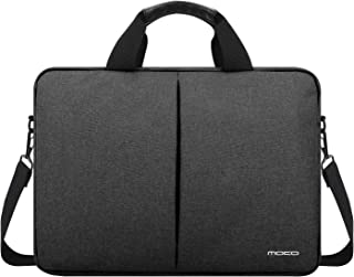 MoKo Inch Laptop Shoulder Bag Compatible with 15  New MacBook Pro  15  Microsoft Surface Book  14  Lenovo Flex 14  Chromebook  14  Dell Inspiron 14  Flax Handbag Notebook Sleeve  Dark Gray