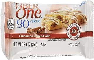 Fiber One 90 Calorie Bar Cinnamon Coffee Cake 6 count-5.34oz Box - Pack of 4