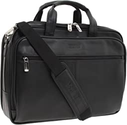 "Kenneth Cole Reaction ""I Rest My Case"" - 4 1/2"" Double Gusset Top Zip Portfolio  Computer Case"