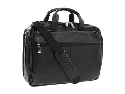 Kenneth Cole Reaction I Rest My Case 4 1/2 Double Gusset Top Zip Portfolio Computer Case (Black Nappa Lea) Computer Bags