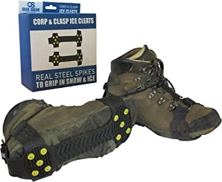 Snow Ice Traction Shoe Boot Cleats - Walking Grip Spikes