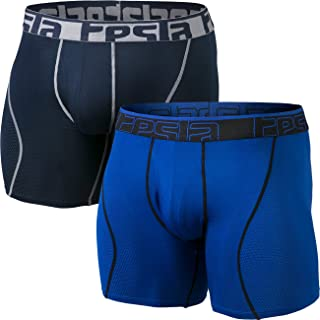 "TESLA Men's Relaxed Stretch 3""/6""/9"" Open-Fly/No-Fly Cool Dry Brief Mesh Underwear Trunk (2-Pack) MBU"