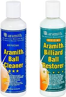 Aramith Paquete de 2 artículos limpiador de bolas de billar y restaurador de bolas de billar Aramith 8.4 fl.oz Botellas