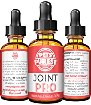 Pets Purest 100% Natural Joint Aid For Dogs, Cats & Pets. Powerful Hip & Joint Care Supplement. Maintains Flexibility & Mobility. Supports Stiff & Ageing Joints. Dog Hip Joint Supplement.