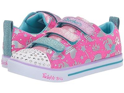 SKECHERS KIDS Twinkle Toes Sparkle Lite 20274L (Little Kid/Big Kid) (Hot Pink/Multi) Girl