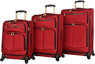 Steve Madden Designer Luggage Collection - 3 Piece Softside Expandable Lightweight Spinner Suitcase Set - Travel Set inclu...