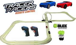 Tracer Racers R/C High Speed Remote Control Super 8 Speedway Glow Track Set with Two Cars for Dual Racing