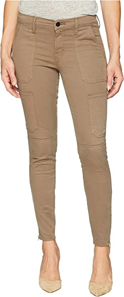 Skinny Utility Jeans in Brown Sugar
