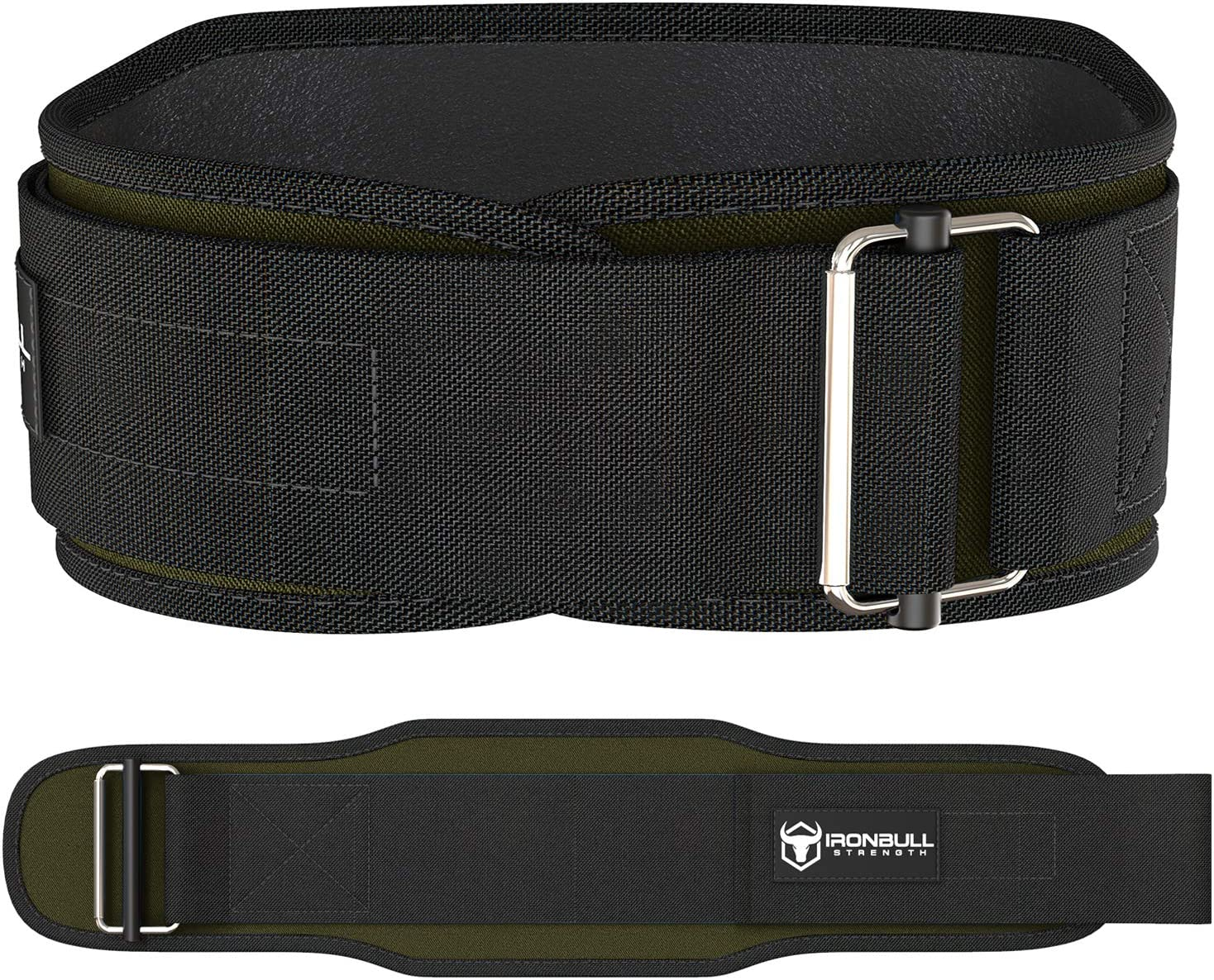 Iron Bull Strength Weight Lifting Belt for Cross Training - 5 Inch Auto-Lock Weightlifting Back Support, Workout Back Support for Lifting, Fitness and Powerlifitng - Men and Women : Sports & Outdoors