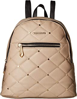 Quilted Midi Backpack with Studs