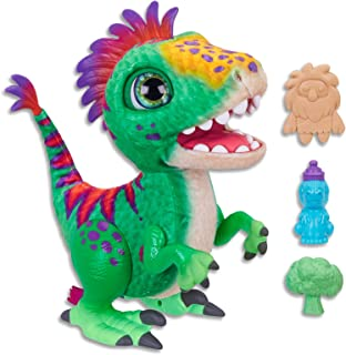 FurReal - Munchin' Rex Dinosaur inc Treats - Plush Pets - Interactive and nuturing Toys for Kids, Girls, Boys - Ages 4+