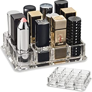 byAlegory Acrylic Lipstick Makeup Organiser Designed For Larger Base Lipsticks | 12 Space Beauty Storage Refillable Cosmet...