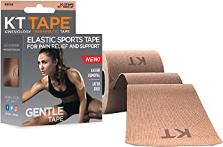 Best KT Tape Kinesiology Therapeutic Sports Tape, Gentle Adhesive for Sensitive Skin, 20 Precut 10 inch Strips, Beige Review