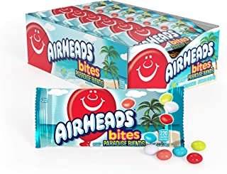 Airheads Candy Bites, Paradise Blends, Non Melting, Party, Concessions, Office, 2oz (Bulk Pack of 18)