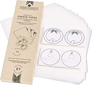 French Cheese Paper for Wrapping and Storage -16 Sheets + Gift Labels - Wax Free Breathable Ripening Paper - 9¹⁄3