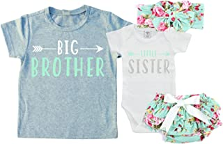 Big Brother/Little Sister Set. Matching Big Brother Little Sister Set 0-3Mo Bodysuit & 2T Shirt