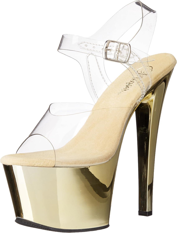 Pleaser Womens SKY308 C GCH Platform Dress Sandal