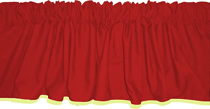 Baby Doll Bedding Solid Two Tone Window Valance Red Yellow